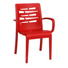 Grosfillex US118414 / US811414 Essenza Red Stacking Armchair