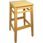 BFM Seating LWB680NTNTW Trevor Natural Wood Barstool with Natural Wood Seat