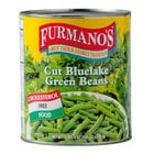 Furmano's #10 Can Cut Green Beans   - 6/Case