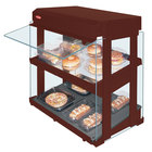 Hatco GRHW-1SGDS Antique Copper Dual Slanted Shelf Heated Glass Mini-Merchandising Warmer - 1330W