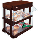 Hatco GRHW-1SGD Antique Copper Dual Shelf Heated Glass Mini-Merchandising Warmer - 1330W