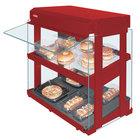Hatco GRHW-1SGDS Warm Red Dual Slanted Shelf Heated Glass Mini-Merchandising Warmer - 1330W