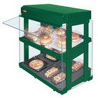 Hatco GRHW-1SGDS Hunter Green Dual Slanted Shelf Heated Glass Mini-Merchandising Warmer - 1330W