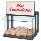 Hatco GRHW-1SGS Glo-Ray Gray Slanted Mini-Merchandising Warmer with Sign and Toggle Controls - 820W