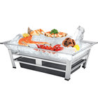 Cal-Mil IP1020-39 Large Ultimate Platinum Ice Housing System with Ice Pan, Water Contaminant Unit, and LED Lighting - 19