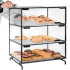 Cal-Mil PC300-13 Three Tier Black Pastry Display Case - 16 inch x 23 inch x 20 inch