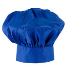 Choice 13 inch Royal Blue Chef Hat