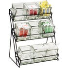 Cal-Mil 1812-13 Iron Three Tier Black Nine Jar Display - 13