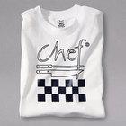 Chef Revival TS001-XL Chef Logo White T-Shirt - Cotton Size XL