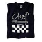 Chef Revival TS002-L Chef Logo Black T-Shirt - Cotton Size L