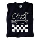 Chef Revival TS002-M Chef Logo Black T-Shirt - Cotton Size M