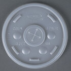 Dart Solo 10SL Translucent Lid with Straw Slot - 100/Pack