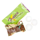 Customizable Chocolate Pastel Mints with a White Candy Shell - 1000/Case
