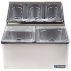 San Jamar FP9125FL EZ Chill Self Service Condiment Center with 5 Pans