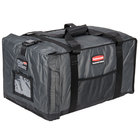 Rubbermaid FG9F1200CGRAY ProServe Insulated Food Pan Carrier End Load Full Size Gray Nylon 27 inch x 18 1/4 inch x 16 inch