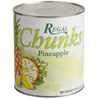 Regal Foods #10 Can Pineapple Chunks in Natural Juice   - 6/Case