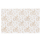 9 1/4 inch x 5 7/8 inch 3-Ply Glassine 1/2 lb. White Candy Box Pad with Gold Floral Pattern   - 250/Case