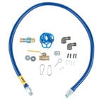 Dormont 1650KIT60 Deluxe SnapFast® 60 inch Gas Connector Kit with Two Elbows and Restraining Cable - 1/2 inch Diameter