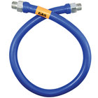 Dormont 16100BP48 Blue Hose™ 48 inch Stainless Steel Moveable Foodservice Gas Connector - 1 inch Diameter