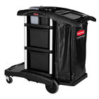 Rubbermaid 1861428 Executive High Capacity Janitor Cart with Bins