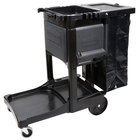 Rubbermaid 1861430 Executive Janitor Cart with Locking Cabinet