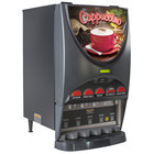 Bunn 37000.0022 iMIX-5 BLK HW Powdered Cappuccino Dispenser with Top Hinged Door and Hot Water Faucet - 5 Hoppers