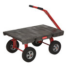 Rubbermaid FG447600BLA 5th Wheel Wagon Platform Truck - 36 inch x 24 inch