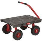 Rubbermaid FG447500BLA 5th Wheel Wagon Platform Truck - 36 inch x 24 inch