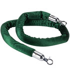 Aarco TR-46 5' Green Stanchion Rope with Chrome Ends
