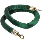 Aarco TR-47 5' Green Stanchion Rope with Brass Ends