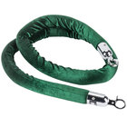 Aarco TR-86 Green 6' Rope with Chrome Ends for Crowd Control / Guidance Stanchions