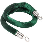 Aarco TR-48 Green 5' Rope with Satin Ends for Crowd Control / Guidance Stanchions