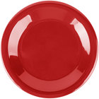 "Carlisle 3301805 Sierrus 6 1/2"" Red Wide Rim Melamine Pie Plate   - 48/Case"