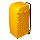 Koala Kare KB424-07 Yellow Plastic Cinema Seats with Cart - 36/Case