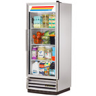 True T-12G-LD 25 inch Single Glass Door Reach In Refrigerator with LED Lighting