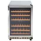 Eurodib USF54D Single Section Half Height Dual Temperature Glass Door Wine Refrigerator - 6 Shelves