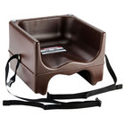 Cambro 200BCS131 Brown Plastic Booster Seat - Dual Seat with Strap