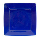Tuxton BCH-1016 DuraTux 10 1/8 inch x 10 1/8 inch x 1 1/8 inch Cobalt Blue Square China Plate - 12/Case