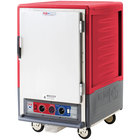 Metro C535-CLFS-U C5 3 Series Insulated Low Wattage Half Size Heated Holding and Proofing Cabinet with Universal Wire Slides and Solid Door - Red