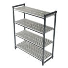 Cambro ESU185464V4580 Camshelving® Elements Vented 4-Shelf Stationary Starter Unit - 18 inch x 54 inch x 64 inch