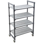 Cambro EMU183670V4580 Camshelving® Elements Premium Vented 4-Shelf Mobile Starter Unit - 18 inch x 36 inch x 70 inch