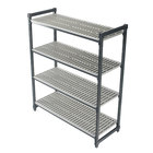 Cambro ESU214264V4580 Camshelving® Elements Vented 4-Shelf Stationary Starter Unit - 21 inch x 42 inch x 64 inch