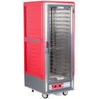 Metro C539-HLFC-U C5 3 Series Insulated Low Wattage Full Size Hot Holding Cabinet with Universal Wire Slides and Clear Door - Red