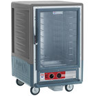 Metro C535-HLFC-4-GY C5 3 Series Insulated Low Wattage Half Size Heated Holding Cabinet with Fixed Wire Slides and Clear Door - Gray