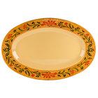 GET OP-145-VN Venetian 14 3/4 inch x 10 1/2 inch Oval Platter - 12/Case