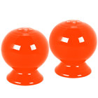 Homer Laughlin 497338 Fiesta Poppy Salt and Pepper Set - 4/Case