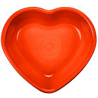 Homer Laughlin 747338 Fiesta Poppy 9 oz. Heart Bowl - 4/Case