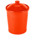 Homer Laughlin 571338 Fiesta Poppy Small 1 Qt. Canister with Cover - 2/Case