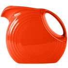 Homer Laughlin 484338 Fiesta Poppy 2.1 Qt. Large Disc Pitcher - 2/Case