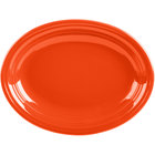 Homer Laughlin 457338 Fiesta Poppy 11 5/8 inch Medium Oval Platter - 12/Case
